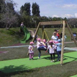 Columpio infantil madera CO209 speedcourts