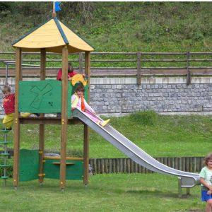 tobogan y torre de madera para parques infantiles TO221 speedcourts