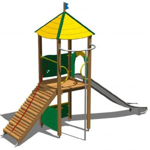 torre y tobogan parques infantiles TO225 speedcourts